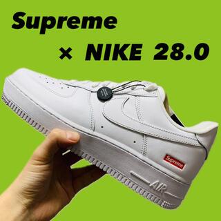 Supreme - Supreme NIKE シュプリーム エアフォース1 ホワイト 28cm