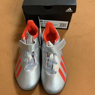 アディダス(adidas)の[アディダス] サッカーシューズ 18cm 19.4 TF J ベルクロ キッズ(シューズ)