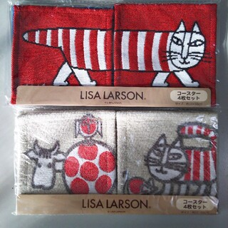 Lisa Larson - 【新品】今週中のみ値下げ☆リサラーソン マイキーコースター4枚セット×2組