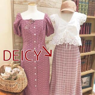 snidel - DEICY デイシー赤 チェック チェック柄 スカート ロングスカート