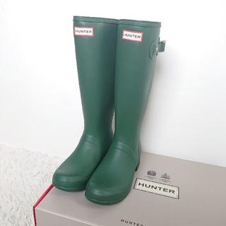 ハンター(HUNTER)の【新品】ハンターブーツ グリーン UK5 24cm(レインブーツ/長靴)