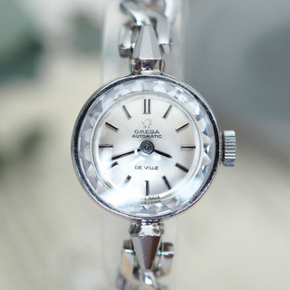 オメガ(OMEGA)のOH済✴︎美品 オメガ 自動巻 人気カットガラス✴︎ロレックス ティファニー(腕時計)