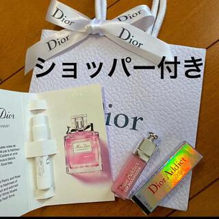 Christian Dior - ディオール ショッパー付き ミニ香水 ミニグロス サンプル 2本セット 新品