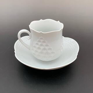 マイセン(MEISSEN)のマイセン Meissen ホワイトレリーフ コーヒー カップ&ソーサー(食器)