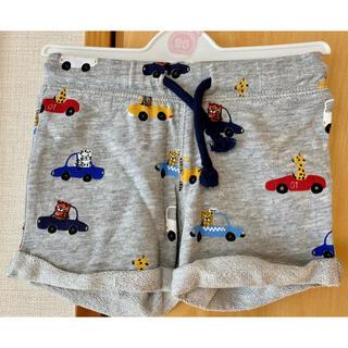 エイチアンドエム(H&M)のベビー 男の子 ハーフパンツ  80 グレー カジュアル  車 くるま(パンツ)