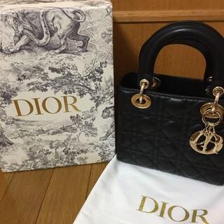 Christian Dior - Dior レディディオール ハンドバッグ 黒 美品