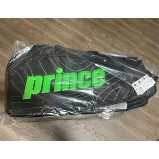プリンス(Prince)のprince ラケットバッグ6本入 ブラック×グリーン(バッグ)