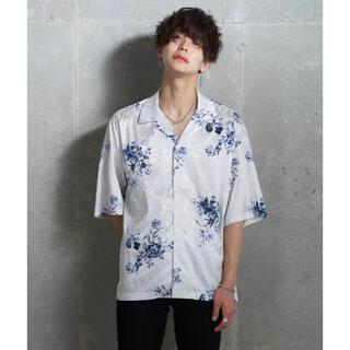 JUNRED - JUNRED kei レトロフラワーシャツ 希少 L ホワイト