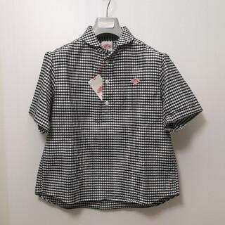 DANTON - ダントン レディース 半袖プルオーバーワークシャツ  ギンガムチェック ストライ