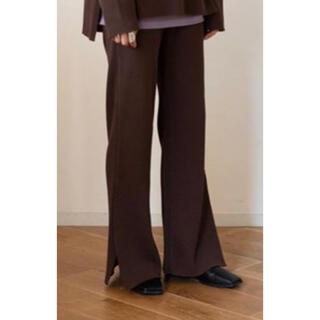 フィーニー(PHEENY)のPHEENY T/C BIG WAFFLE SIDE SLIT PANTS(カジュアルパンツ)