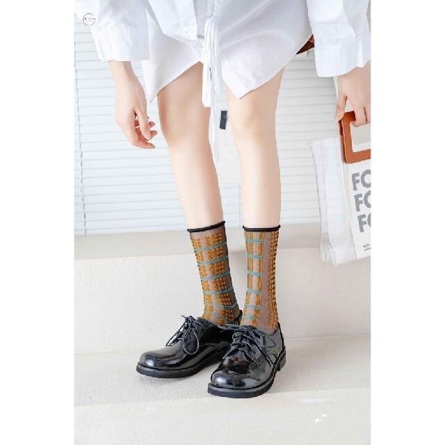 レディース靴下5足セット シースルーソックス レディースのレッグウェア(ソックス)の商品写真