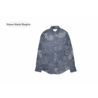 マルタンマルジェラ(Maison Martin Margiela)のマルタンマルジェラ⑩ 美品 ドット デザイン 長袖シャツ 46 ネイビー(シャツ)