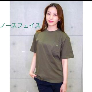THE NORTH FACE - 【未開封新品】ノースフェイス ポケットTシャツ ワンポイント刺繍 カーキ色 M