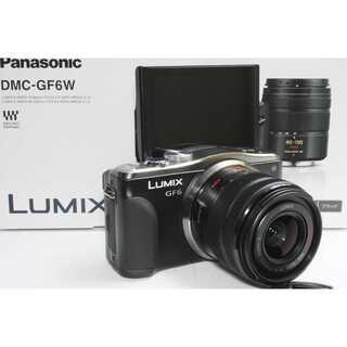 パナソニック(Panasonic)の❤️Wi-Fi内蔵&自撮り❤️Panasonic LUMIX GF6 ブラック(ミラーレス一眼)