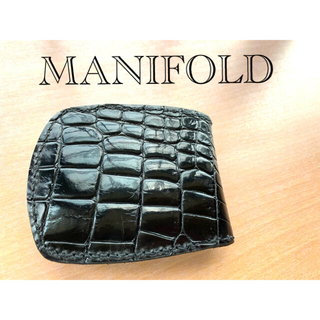 MANIFOLD クロコダイル 折り財布