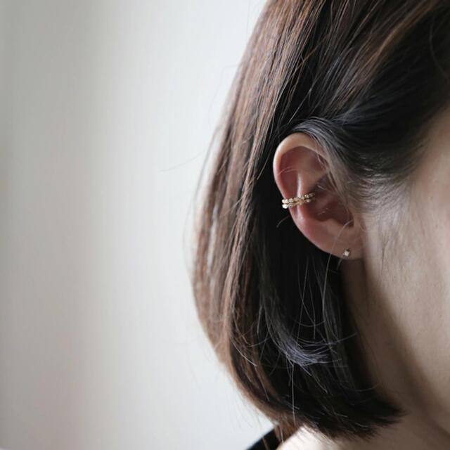 agete(アガット)の【K18】avaron ダイヤモンドイヤーカフ Cres ジュエリー レディースのアクセサリー(イヤーカフ)の商品写真