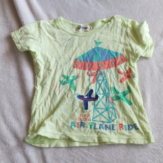 ニットプランナー(KP)の【90サイズ】 KP KNlTPLANNER  半袖 古着 キッズ 飛行機(Tシャツ/カットソー)