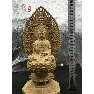 仏壇仏像  観音菩薩  供養品  祈る厄除  精密細工 仏教工芸品  木彫仏像(彫刻/オブジェ)
