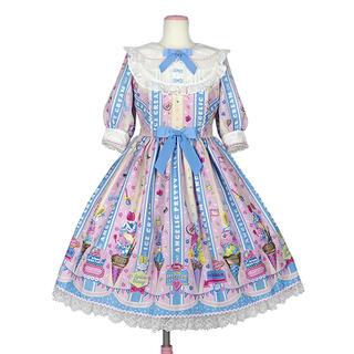 アンジェリックプリティー(Angelic Pretty)のIce Cream Parlor ピンク OP(ひざ丈ワンピース)