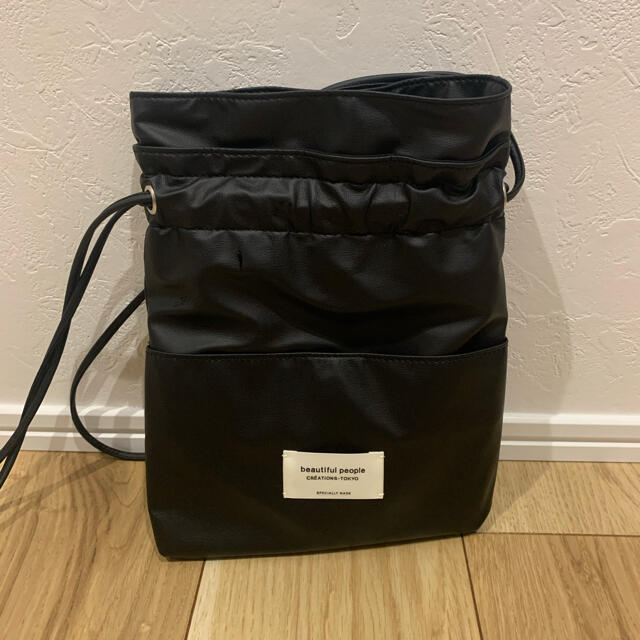 beautiful people(ビューティフルピープル)のbeautiful peaple 巾着バッグ クリアバッグ セット レディースのバッグ(ショルダーバッグ)の商品写真