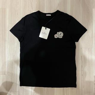 MONCLER - [新品同様]モンクレール  ダブルワッペン Tシャツ ブラック L