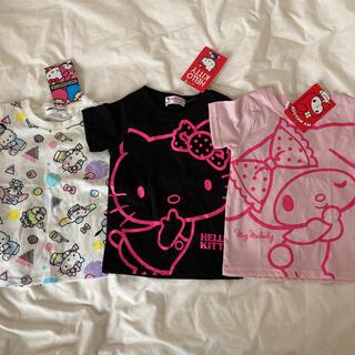 サンリオ(サンリオ)の新品♡サンリオ 女の子 Tシャツ 95 キティ マイメロ シナモン ポチャッコ(Tシャツ/カットソー)