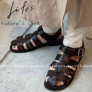 TODAYFUL - TODAYFUL■新品未使用■ Leather Belt Sandals 38