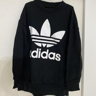 adidas - 美品!!レアadidas トレーナー スウェット★ブラック★サイズメンズL大きめ