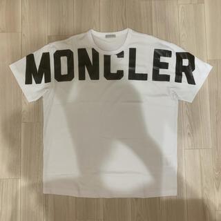 モンクレール(MONCLER)の[新品同様]モンクレール ロゴTシャツ ホワイト L(Tシャツ/カットソー(半袖/袖なし))