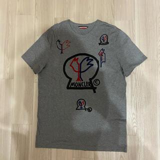 モンクレール(MONCLER)の[新品同様]モンクレール ジーニアス fragment Tシャツ グレー(Tシャツ/カットソー(半袖/袖なし))