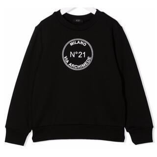 ヌメロヴェントゥーノ(N°21)の【新作】ヌメロヴェントゥーノ サークルロゴトレーナー ブラック 12(トレーナー/スウェット)