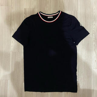 モンクレール(MONCLER)の[新品同様]モンクレール  トリコロール Tシャツ ダークネイビー xs(Tシャツ/カットソー(半袖/袖なし))