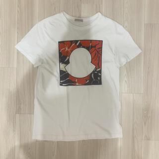モンクレール(MONCLER)の[極美品]モンクレール  Tシャツ ホワイト M(Tシャツ/カットソー(半袖/袖なし))