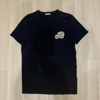 モンクレール(MONCLER)の[極美品]モンクレール ダブルワッペン Tシャツ ダークネイビー(Tシャツ/カットソー(半袖/袖なし))