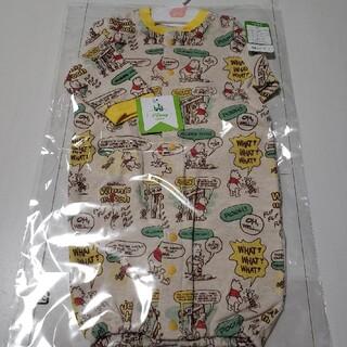 くまのプーさん - 新品未開封くまのプーさん総柄長袖コンビドレス綿100%年中素材50〜60センチ