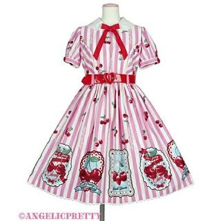 アンジェリックプリティー(Angelic Pretty)のangelic pretty Cherry Stamp ジャンパースカート(ひざ丈ワンピース)