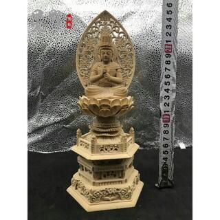 極上品 大日如来 木彫仏像  仏壇仏像 供養品 祈る厄除仏教工芸品(彫刻/オブジェ)