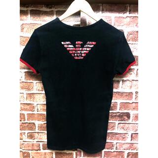 エンポリオアルマーニ(Emporio Armani)のエンポリオアルマーニ レア カラー Tシャツ ブラック レッド 迷彩 ストレッチ(Tシャツ/カットソー(半袖/袖なし))