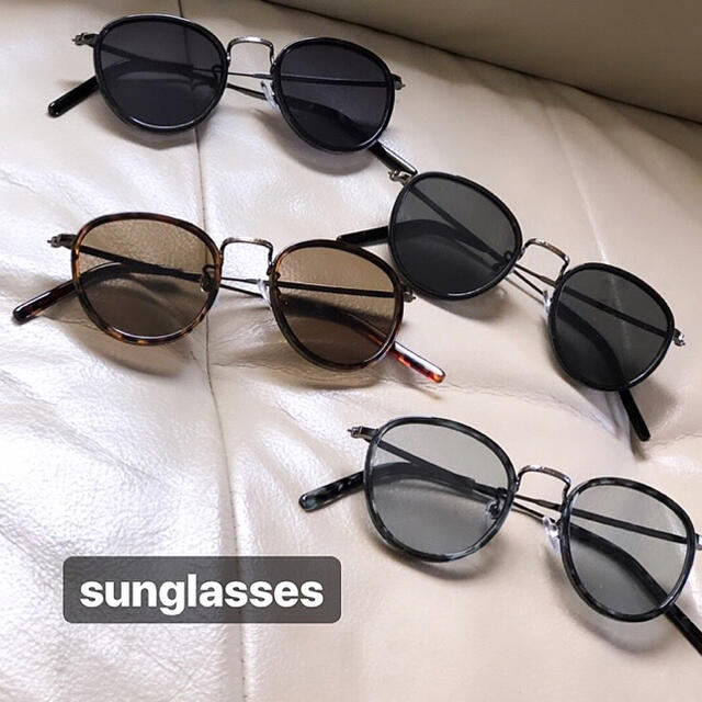 高級 ボストン 丸 丸サングラス カラーレンズ サングラス めがね 海外 メンズ メンズのファッション小物(サングラス/メガネ)の商品写真