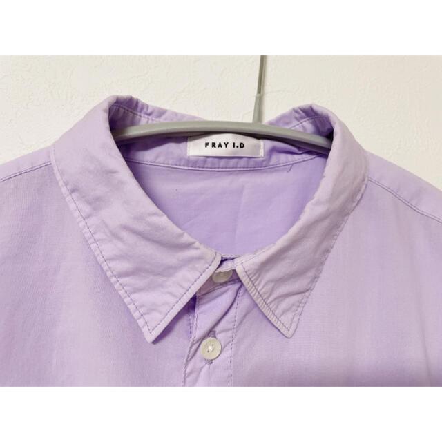 FRAY I.D(フレイアイディー)のFRAY I.D フレイアイディー 長袖シャツ パープル レディースのトップス(シャツ/ブラウス(長袖/七分))の商品写真