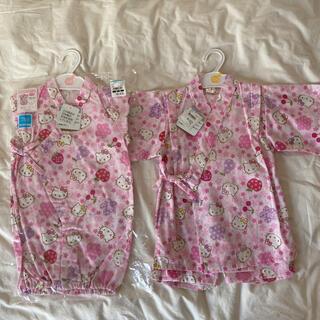 サンリオ(サンリオ)の新品♡ハローキティ 甚平 50 60 100 女の子 ロンパース(甚平/浴衣)