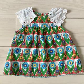 プチジャム(Petit jam)のプチジャム お花柄ワンピース 80(Tシャツ/カットソー)