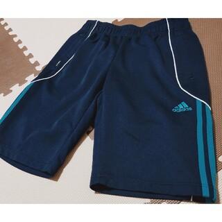 アディダス(adidas)の☆アディダス ハーフパンツ 紺&青線 サイズM ●AHP-245(ショートパンツ)