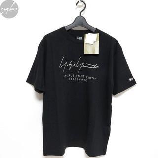 ヨウジヤマモト(Yohji Yamamoto)の20AW ヨウジヤマモト ニューエラ PARIS ロゴ Tシャツ 黒5新品 パリ(Tシャツ/カットソー(半袖/袖なし))