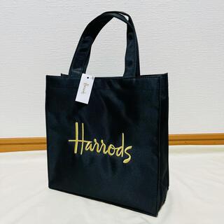 ハロッズ(Harrods)のHarrods ハロッズ ロゴ トートバッグ ショッピングバッグ ブラック(トートバッグ)