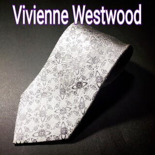 ヴィヴィアンウエストウッド(Vivienne Westwood)のVivienne Westwood 総柄 ネクタイ シルバー(ネクタイ)