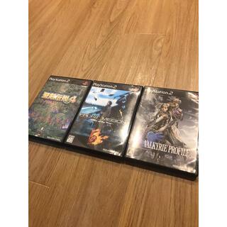 プレイステーション2(PlayStation2)のPS2 聖剣伝説4 フロントミッション5 ヴァルキリープロファイル2 計3本(家庭用ゲームソフト)