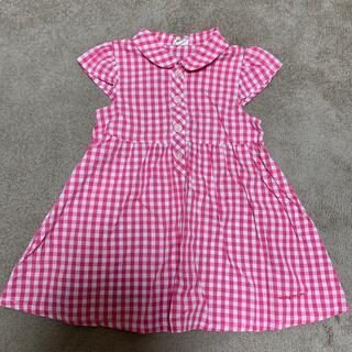 ムージョンジョン(mou jon jon)のムージョンジョン ギンガムチェック ピンク ワンピース シャツ(ワンピース)