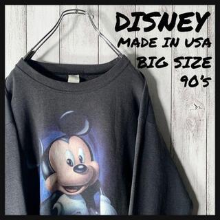 ディズニー(Disney)の【USA製 90s】ディズニー DISNEY ミッキー ビッグロゴ スウェット(スウェット)