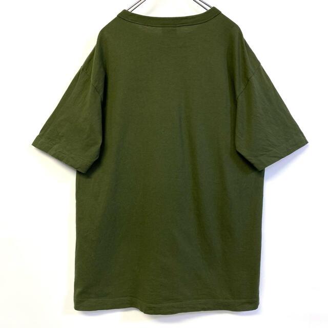 Champion(チャンピオン)の美品 Champion 刺繍ロゴ 胸ポケTシャツ カーキ系 メンズのトップス(Tシャツ/カットソー(半袖/袖なし))の商品写真